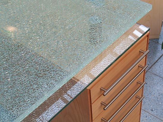 Tafel Van Gebroken Glas.Crashglas In 6 6 6 18mm Decoratief Voor Tafels En Wanden