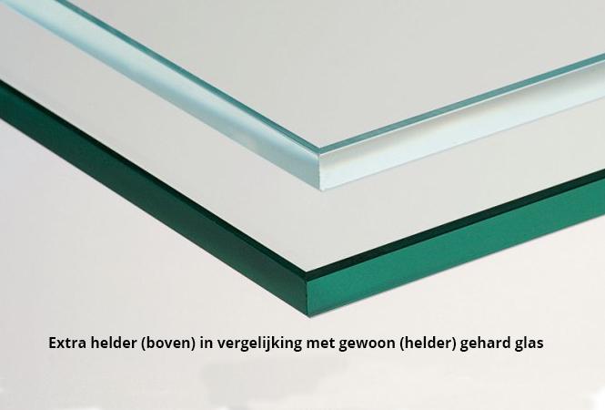 Geharde glasplaat op maat mdf lakken hoogglans for Glasplaat op maat